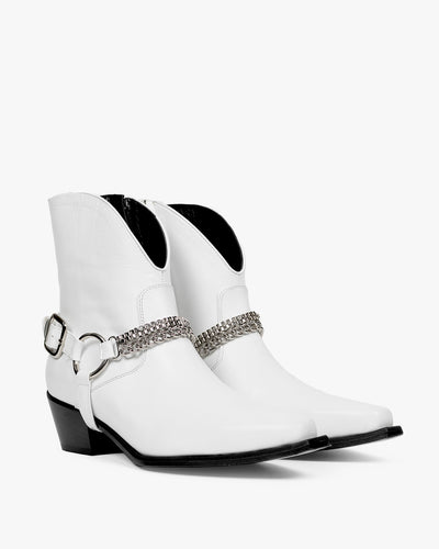 HAVVA Texas Buckle Boot white, cowboy boot