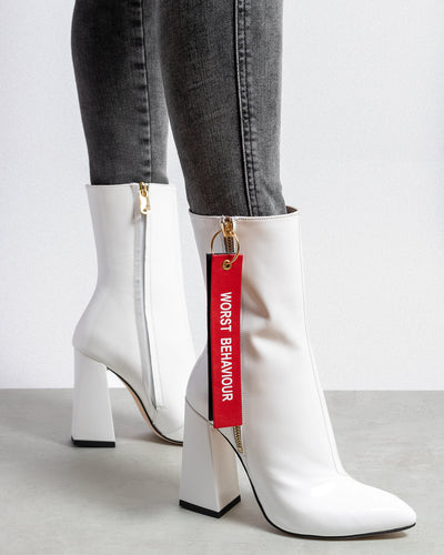 Havva 'WORST BEHAVIOUR' Boots White