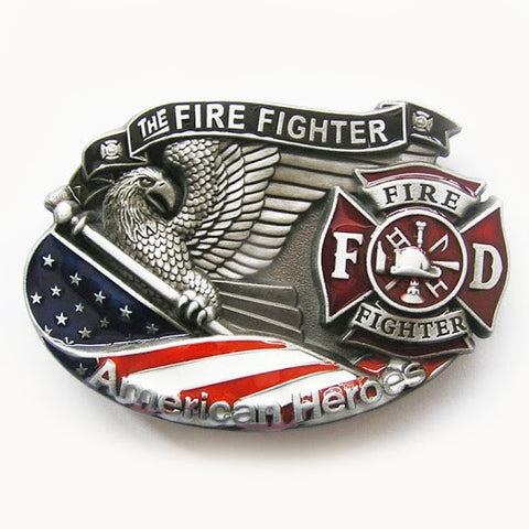 The American Fire Fighter Belt Buckle