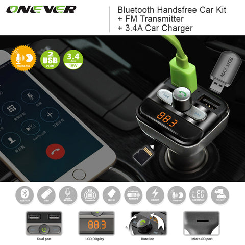 Bluetooth Hands-Free Car Charger