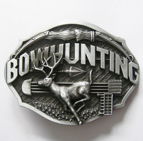 Vintage Bowhunting Belt Buckle