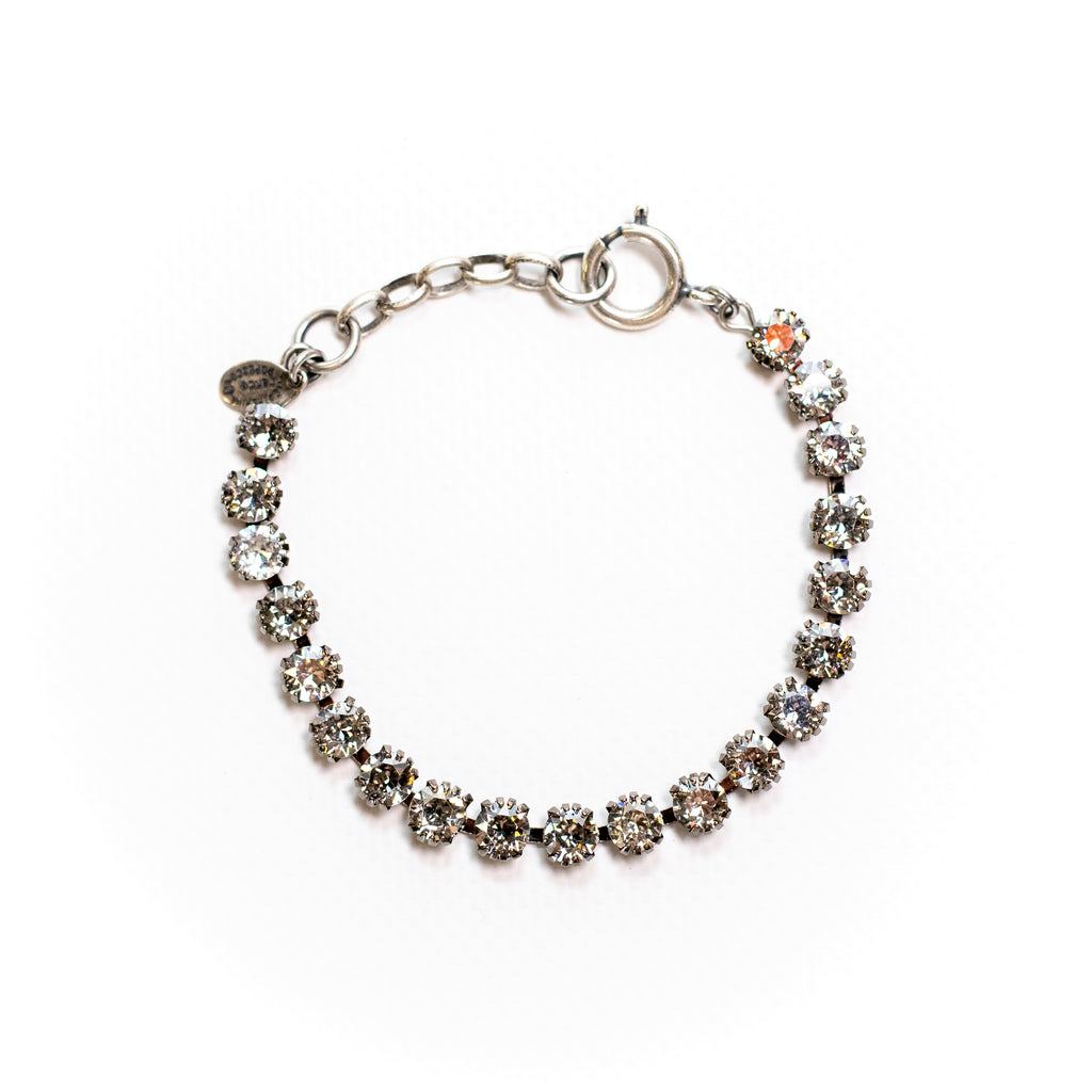 Sterling silver plated bracelet with Swarovski crystals in Crystal
