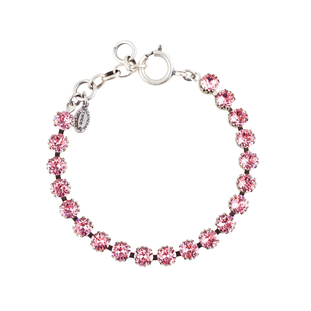 Sterling silver plated bracelet with Swarovski crystals in Light Rose