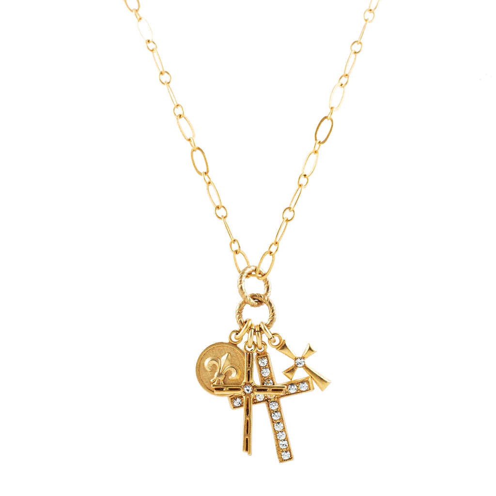 14k gold plated Paris charm necklace