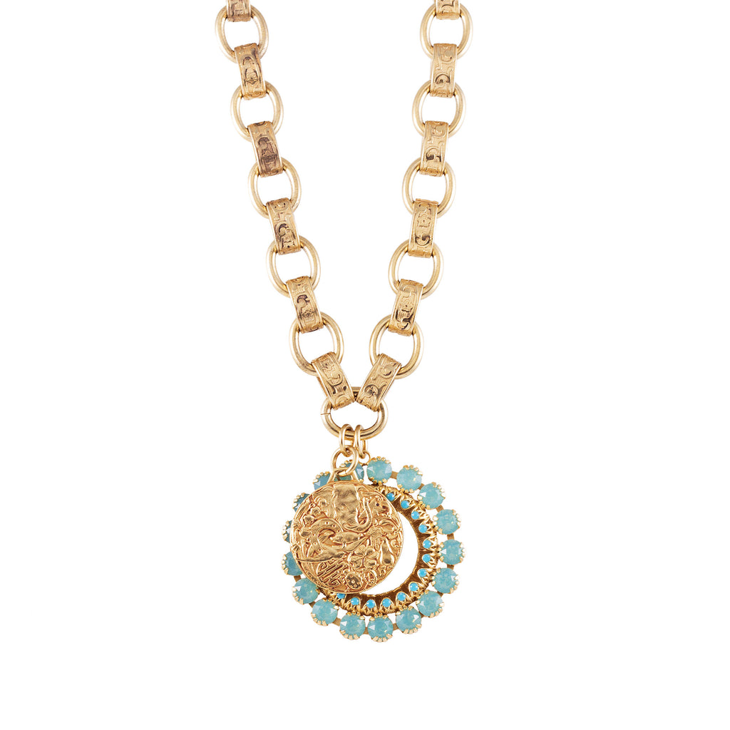 14k gold fancy chain necklace