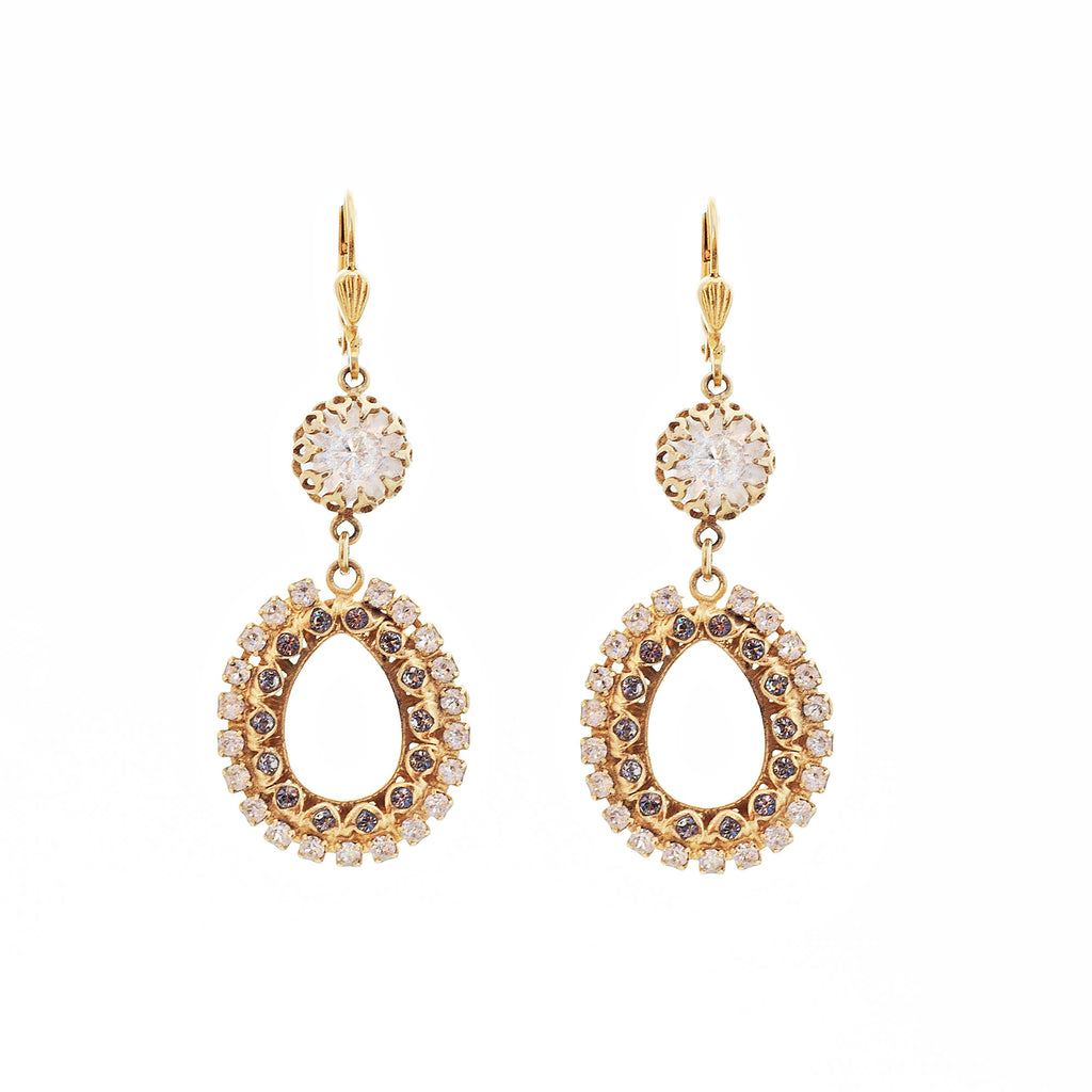 14k gold plated drop earrings