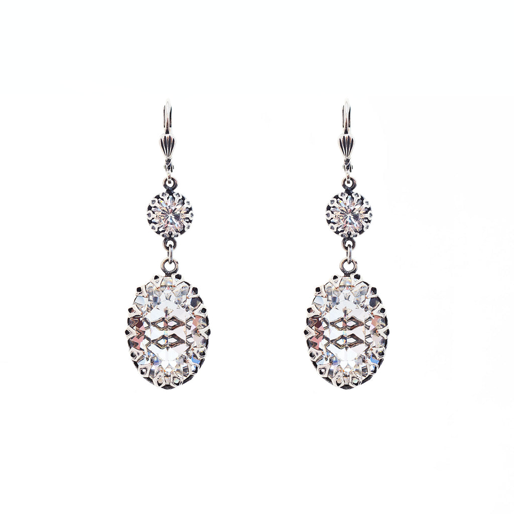 Sterling silver plated drop earrings