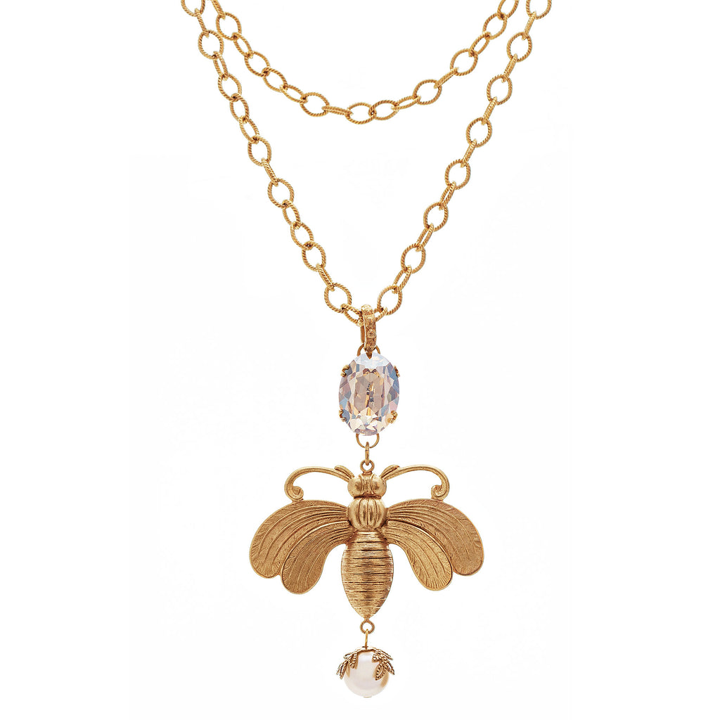 14k gold plated Bee necklace
