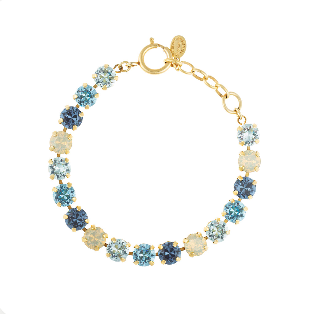 14k gold plated bracelet with multi-colour Swarovski crystals