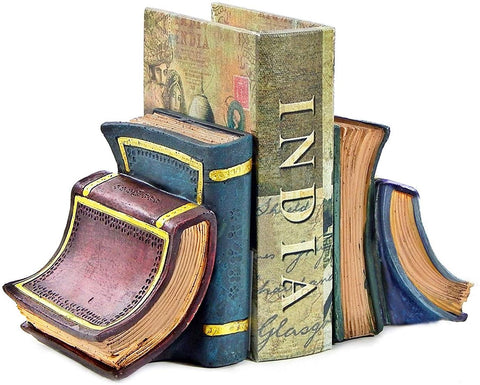 Bellaa 23354 Book Bookends Library Decor 6 inch