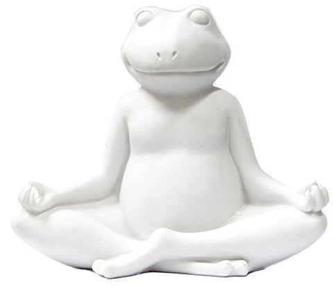 White Yoga Frog Ardha Padmasana Lotus Meditation Pose