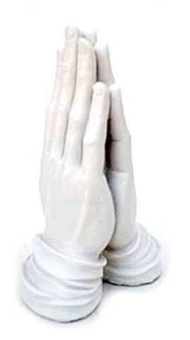 """Amen"" Praying Hands Sculpture Statue Vitruvian Namaste, Be Happy, Blessings"