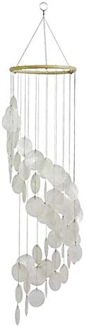 Bellaa 24537 Wind Chimes Garden Gifts Patio Wind Chimes  White 26 Inches