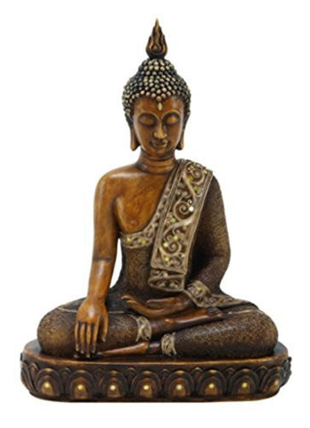 "15"" Buddha Earth Touching Mudra Statue"