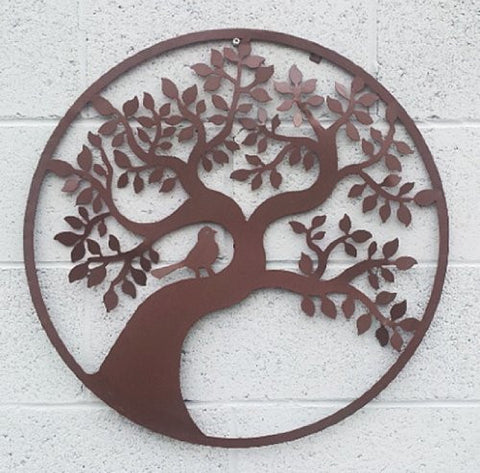 Song of Life - Tree of Life Metal Wall Hanging Garden Art 24 Inches