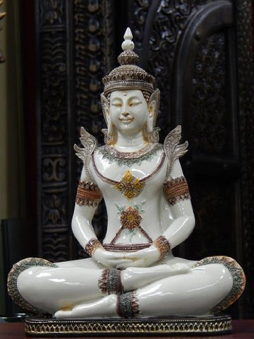 "Rare Find Beautiful King Buddha - Collector's Choice 12"" Ivory Finished"