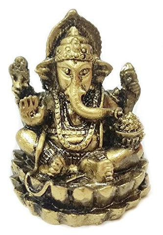 Tribal Mini Statues of Lord Ganesha Ganesh Hindu Gods and Goddesses - Hinduism