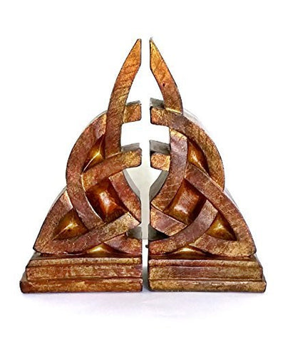 Bellaa Bookends Decorative Mystical Celtic Knot Design