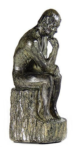 #1 Rodin the Thinker Statue Fine Art Sculpture Male Nude Figure Real Bronze Powder