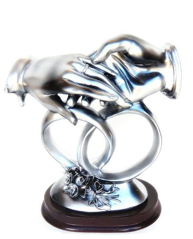 "With This Ring Wedding Hand Statue ""I Thee Wed"" - Congratulation and Good Luck"