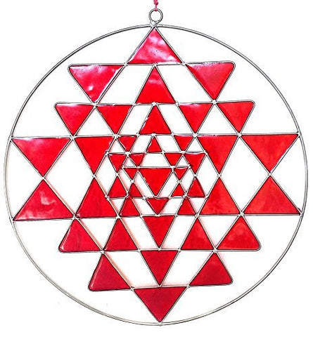 Oregon`s Sri Yantra a Gift of the Circlemakers Sacred Geometry Suncatcher Mandala Yoga