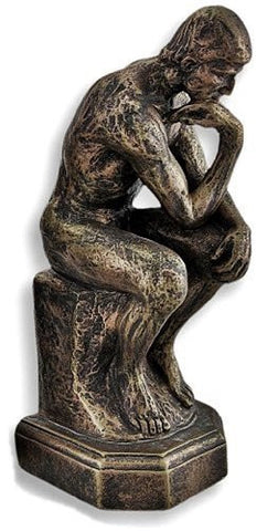 Rodin the Thinker Statue Fine Art Sculpture Male Nude Figure Real Bronze Powd...