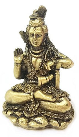 Tribal Mini Statues of Lord Shiva Shiv Hindu Gods and Goddesses - Hinduism