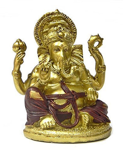 Beautiful Golden Lord Ganesha Statues