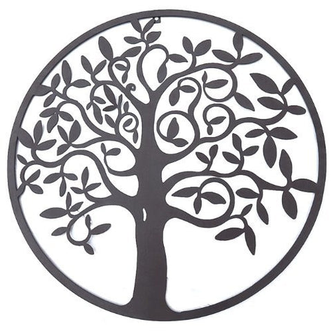 Beautiful Tree of Life Metal Wall Hanging Sculptures Garden Art 24 Inches 1305
