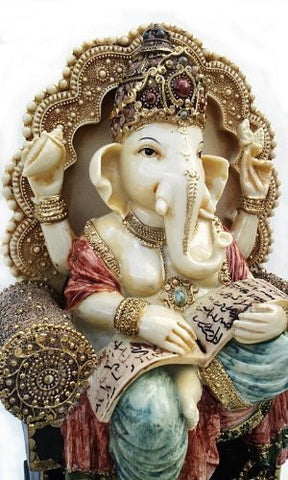 Rare #1 Lord Ganesh Ganesha Beautiful Statues Hindu Good Luck God - LIMITED EDITION