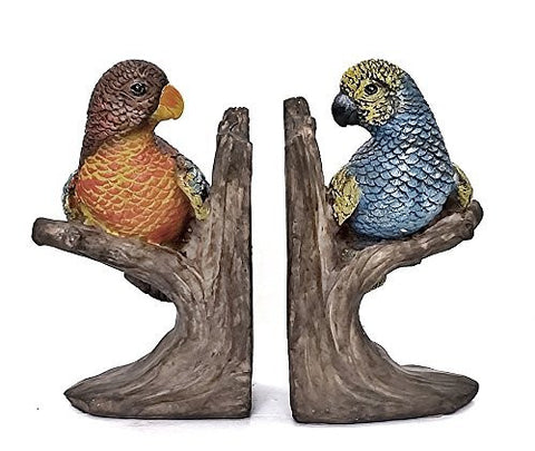 Bellaa Decorative Bookends Birds on Branch Bookends