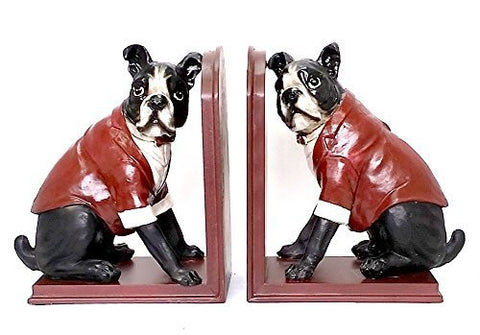 Bellaa Decorative Bookends Dog, Cute Dog Book Ends, Figure, Statues - Limited Edition