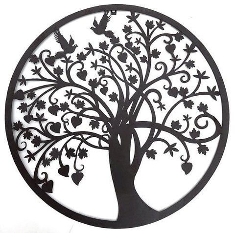 Beautiful Tree of Life Metal Wall Hanging Sculptures Garden Art 24 Inches 1301