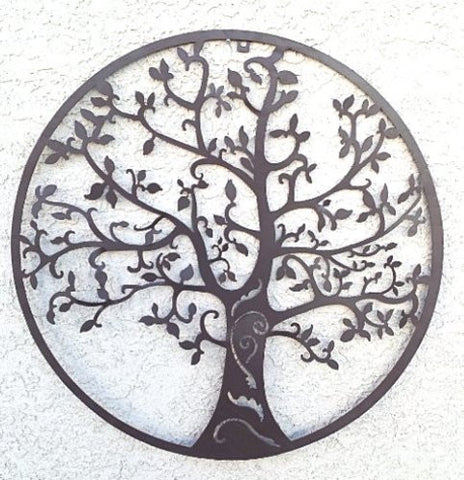 World Best Rustic Tree of Life Metal Wall Hanging Garden Art 24 Inches