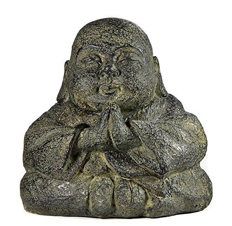 Praying Monk Blessing Buddha Antiques Volcanic Finished