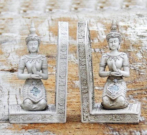 Thai Buddha Bookends Statue - NOW 50% Off - Tibet Buddha Book Ends