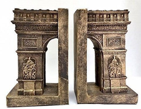 Bellaa Decorative Bookends Arc De Triomphe Paris - Paris Attractions Big Size Book Ends