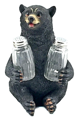 "Bellaa 29448 Black Bear Salt and Pepper Shakers 8.5"" Inches Wholesale Liquidation 12 Pcs. Case"
