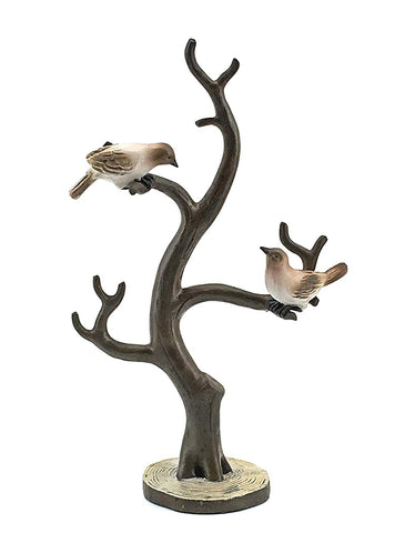 "Bellaa 24308 Bird and Twig Tree Jewelry Holder 15"" Tall Big  Wholesale Liquidation 4 Pcs. Case"