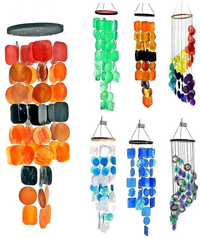 Bellaa 20720 Wind Chimes Outdoor Garden Patio Farmhouse Beach Decor 27 inch