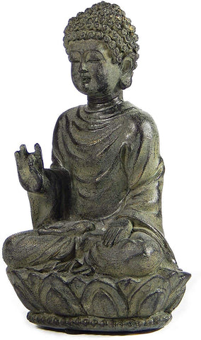 "Bellaa 22661 Buddha Statues Blessing Mudra 5.5"" Indoor Outdoor Wholesale Liquidation 72 Pcs. Case"