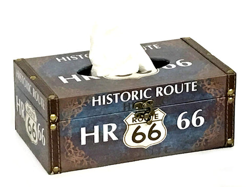 Bellaa 21796 Route 66 Tissue Holder Napkin Dispenser Historic Wholesale Liquidation 12 Pcs. Case