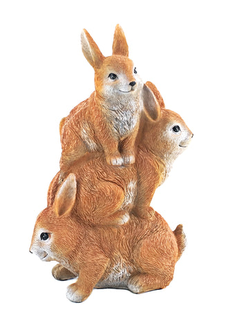 Bellaa 22562 The Bunny Den Rabbits Garden Animal Statues 12 Inch