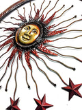 Bellaa 20025 Urban Trends Metal Sun Moon Wall Décor