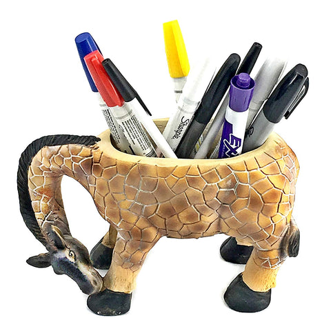 "Bellaa 23486 Giraffe Flower Vase Planter Pencil Holder 9""  Wholesale Liquidation 12 Pcs. Case"