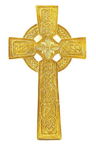 "Bellaa 27321 Gold Celtic Wall Cross Trinity Knot Irish 12"" Wholesale Liquidation 14 Pcs. Case"
