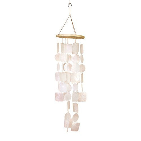 Bellaa 22913 Handmade Chimes Outdoor Large Memorial Wind Chimes Amazing Grace Sympathy Wind Chimes Gifts for Garden Home Yard Hanging Indoor Decor 26 inch White