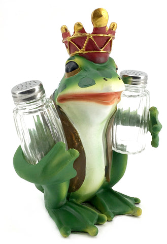 Prince frog Glass Salt and Pepper Shaker