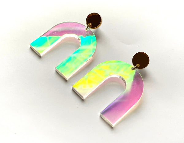 Arch Angel Earrings-Iridescent