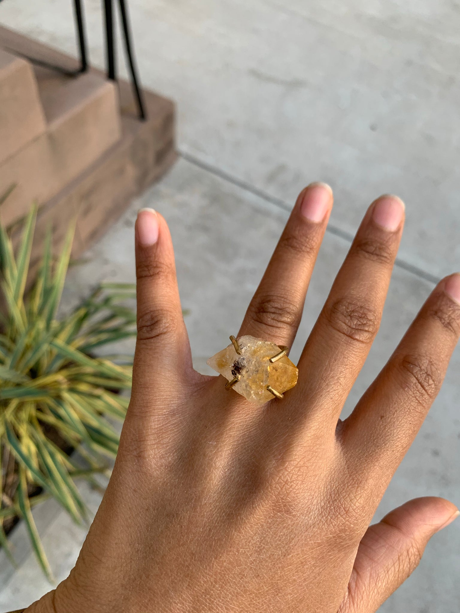 Citrine Prong Ring